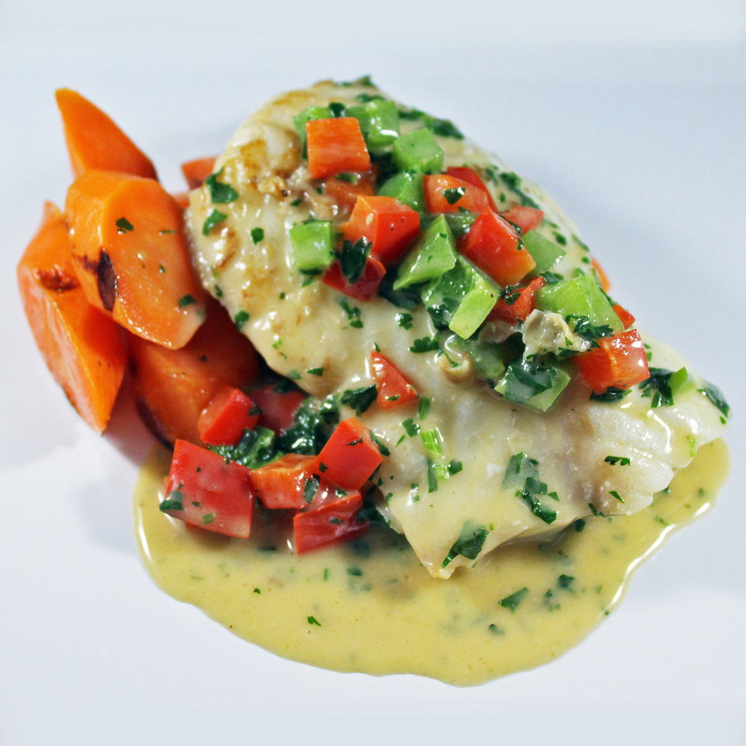 Moqueca Cod with Grilled Carrots