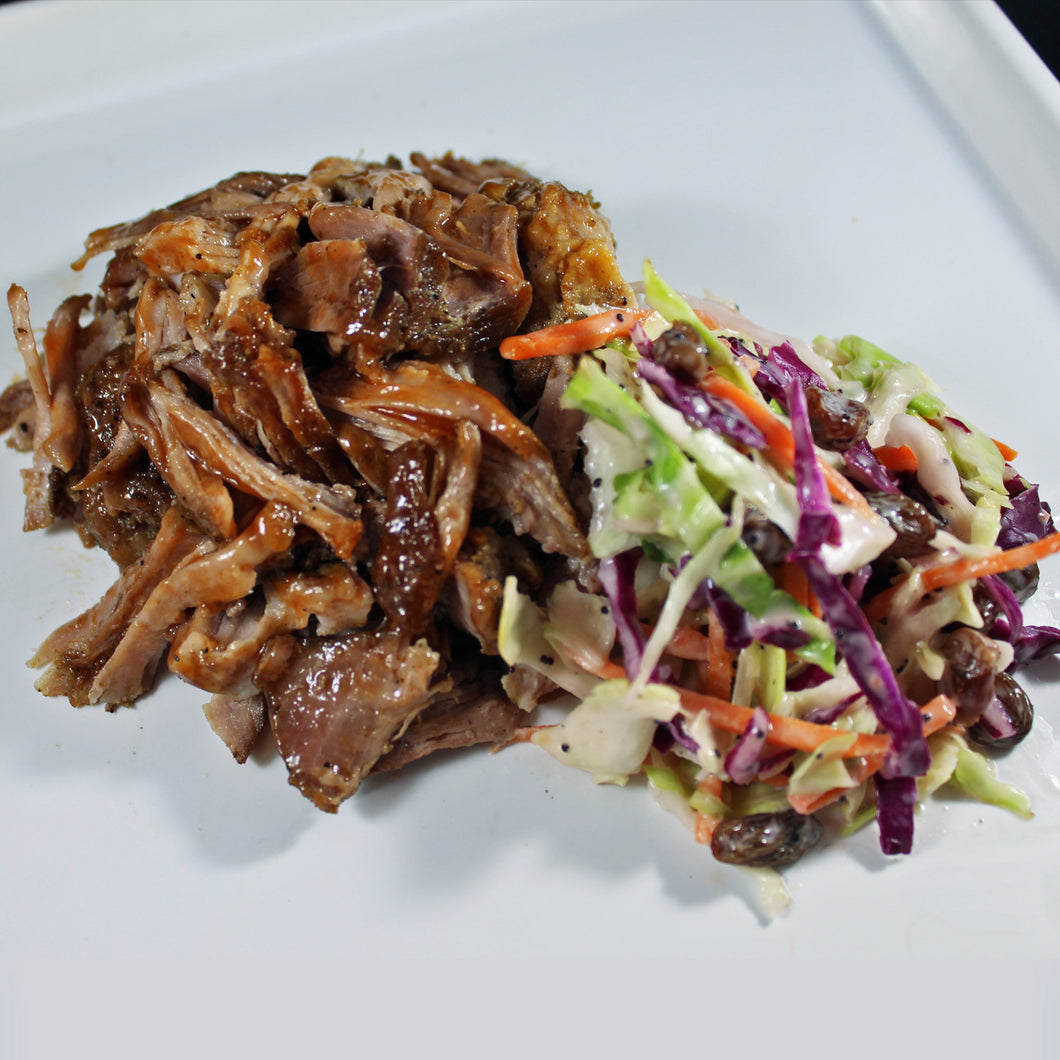 Pulled Pork with Poppy Seed Slaw