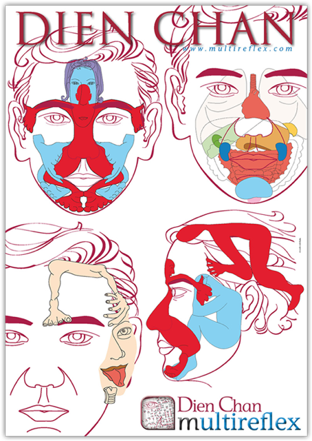 Dien Chan - Facial Reflexology Posters (Set of 3) - The RE  - 2