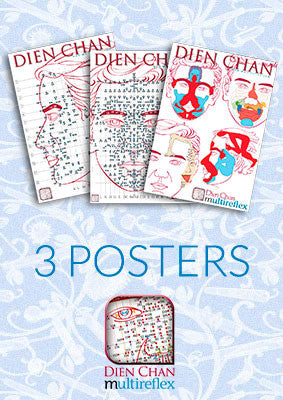 Dien Chan - Facial Reflexology Posters (Set of 3)