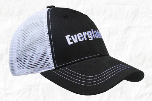 Everglades Boats Black Trucker Hat