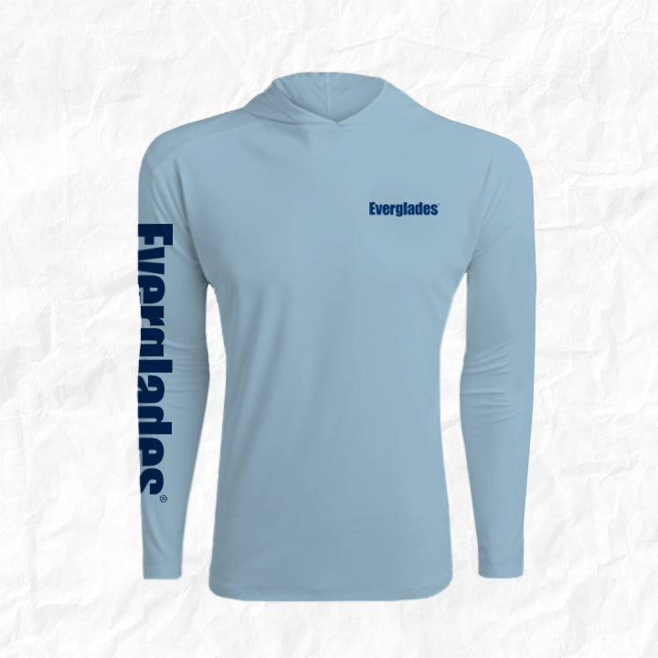 Men's Performance Long Sleeve Hoody - Arctic Blue