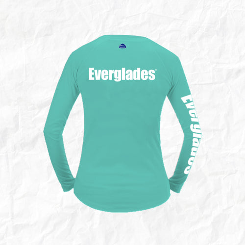 Women's Long Sleeve Performance Shirt - Signature Water Blue