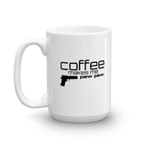 """Coffee Makes Me Pew Pew"" Coffee Mug made in the USA"