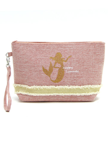 Mermaid Happy Summer Fabric Make-up Pouch - Salty 9