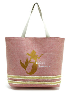 Mermaid Happy Summer Beach Tote Bag - Salty 9