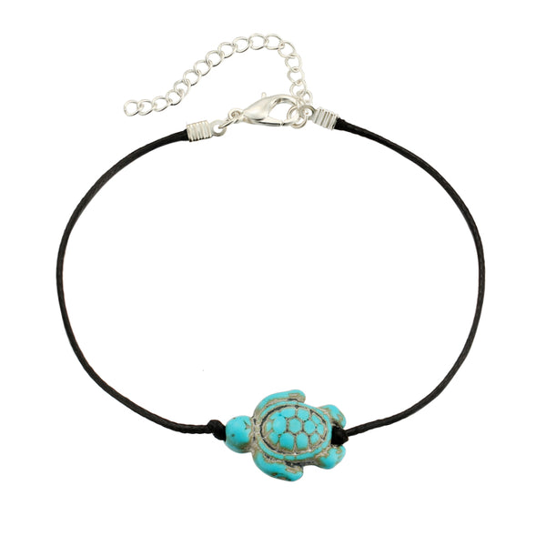 Tortoise Leather Cord Anklet - Salty 9
