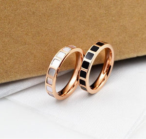 Natural Pink Shell Ring Rose Gold - Salty 9