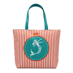 BONAMIE Beach Bag w/Waterproof Lining Assorted Patterns - Salty 9
