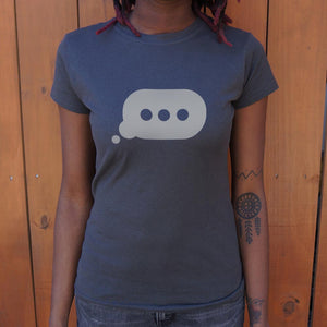 Ladies Typing Bubble T-Shirt - Salty 9