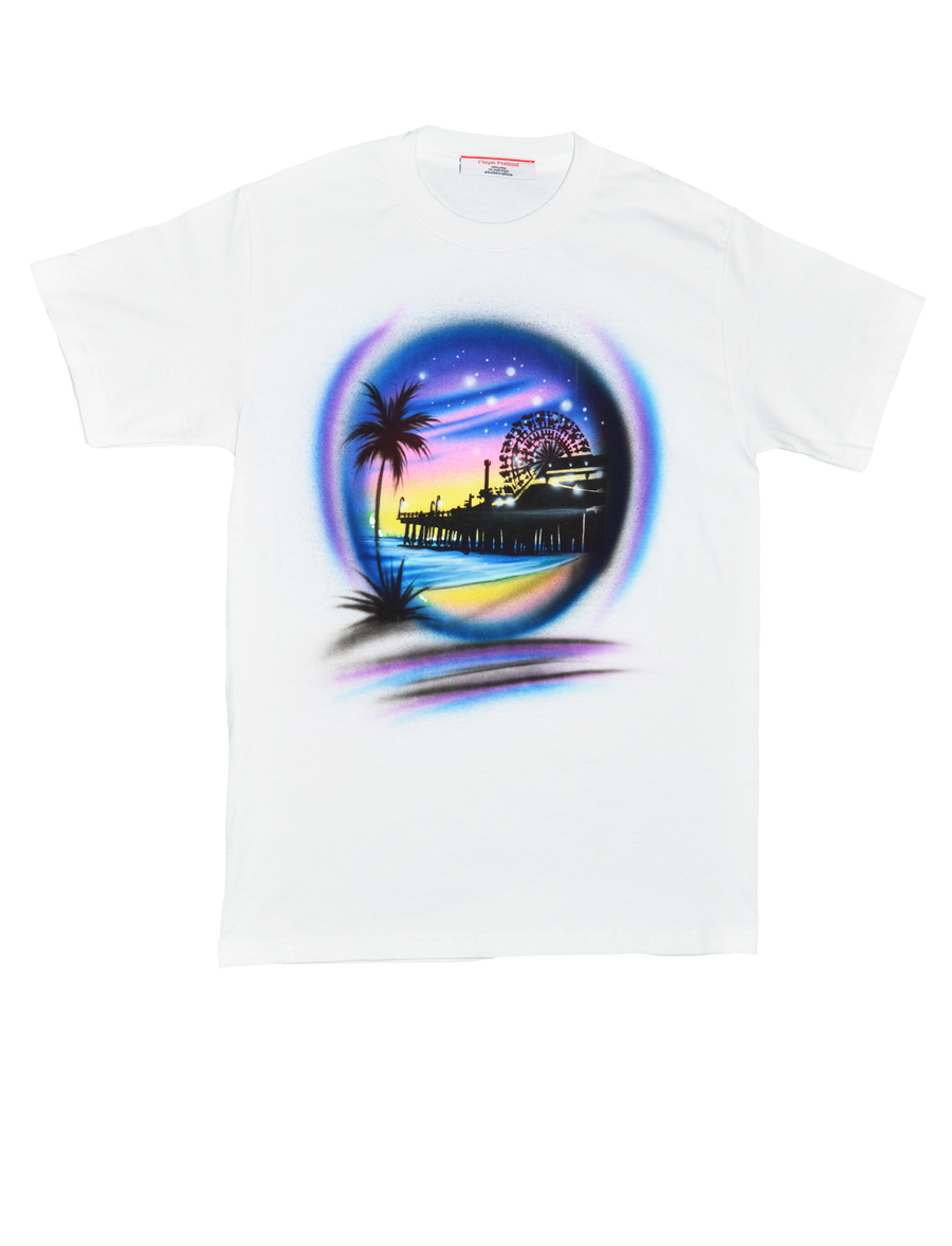 Boardwalk Airbrushed Tee