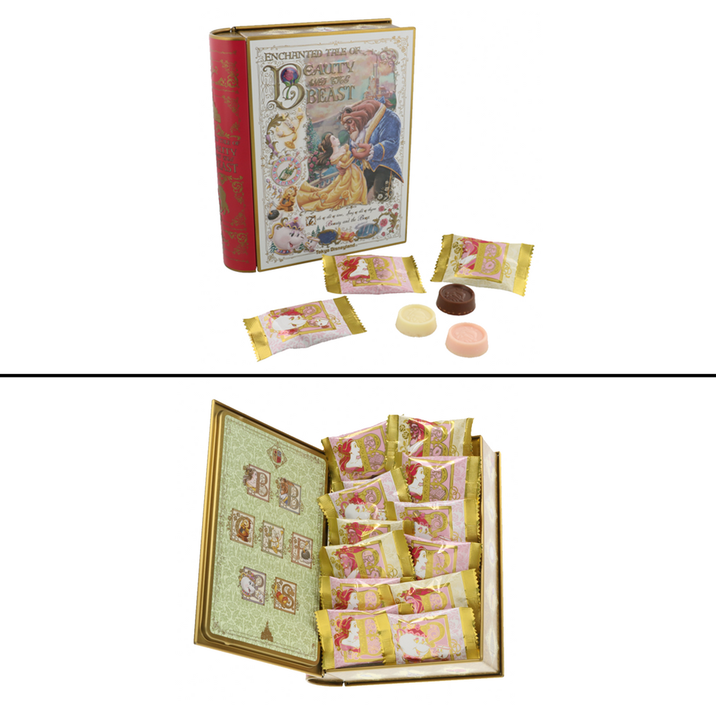 Tokyo Disney Resort Beauty and the Beast Chocolate Tin