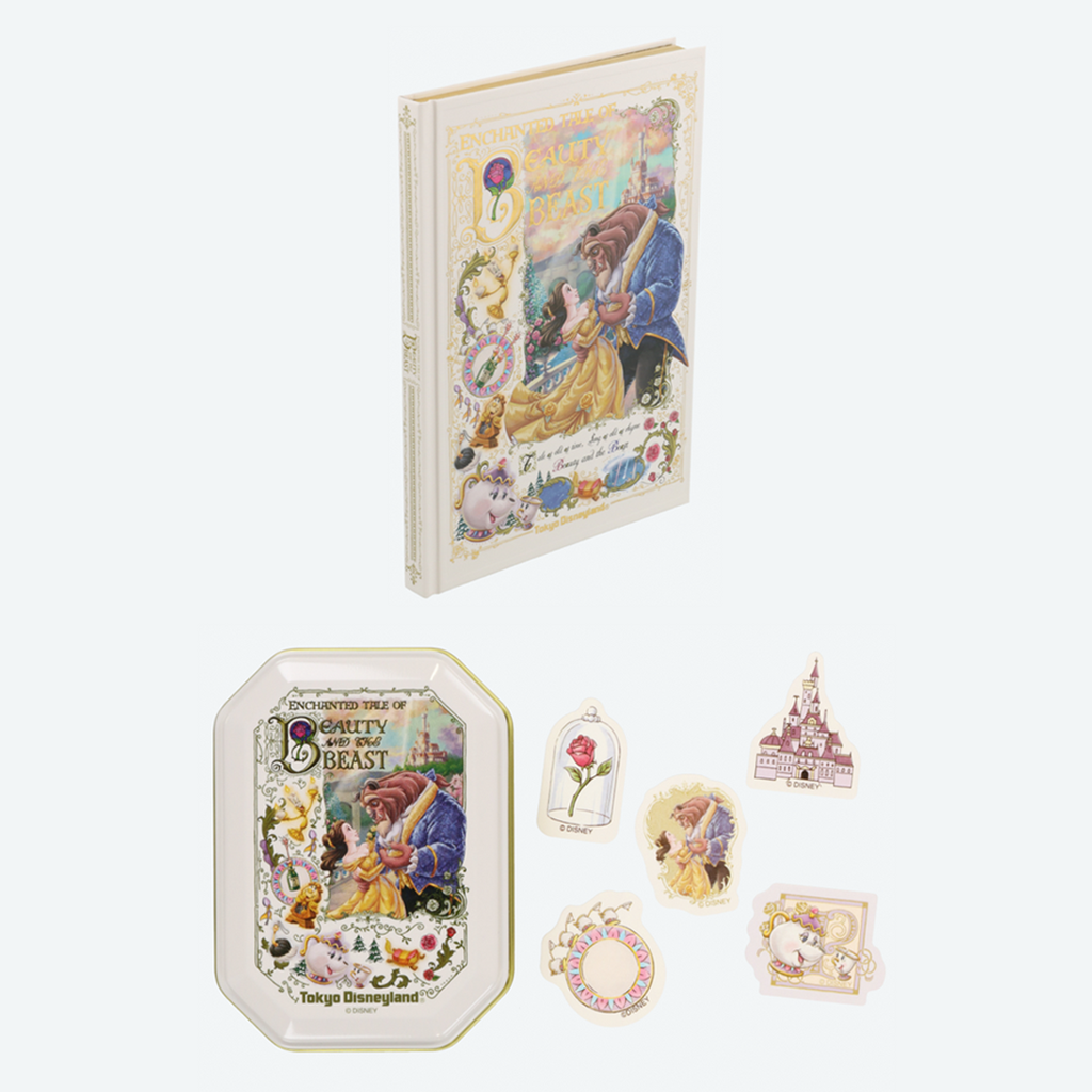 Tokyo Disney Resort New Land Beauty and the Beast Notebook & Sticker Tin