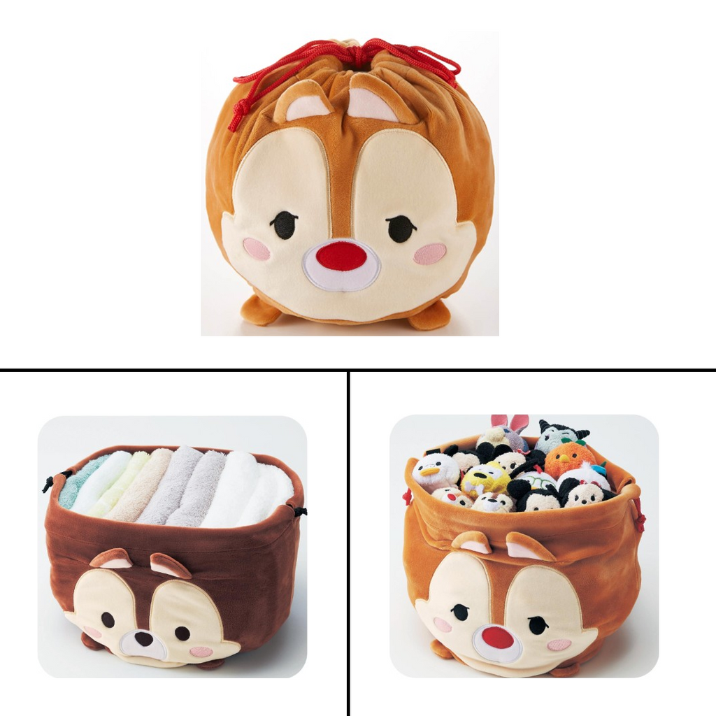 Disney Japan Chip and Dale Drawstring Storage Cases