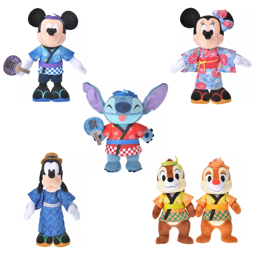 Disney Store Japan Mickey and Friends Japan Culture Plush and Keychains