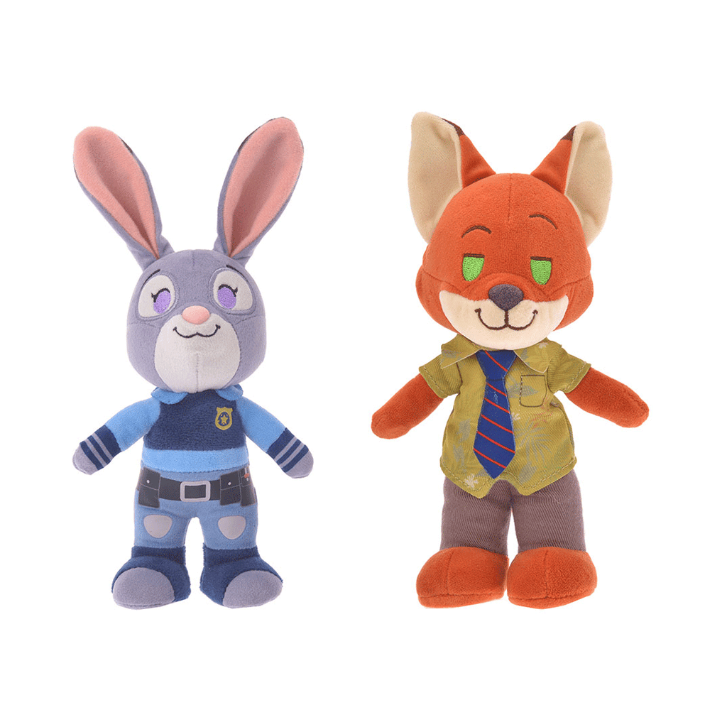 Disney Store Japan Judy Hopps and Nick Wilde nuiMO Posable Plushes