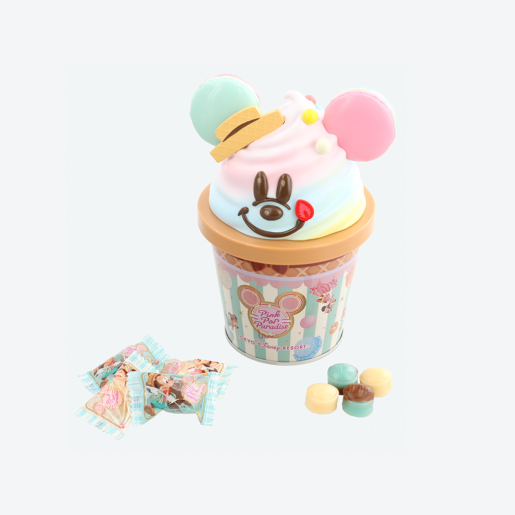 Tokyo Disney Resort Mickey Ice Cream Candy Tin