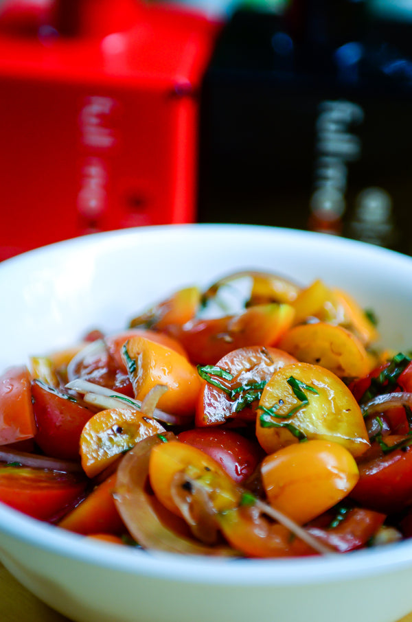 Sweet Basil & Cherry Tomato Salad