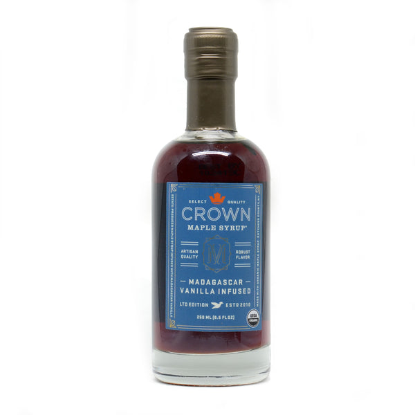 Crown Maple Madagascar Vanilla Infused Organic Maple Syrup