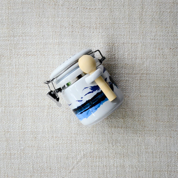 Halen Môn Watercolour Ceramic Jar with 100g Pure White Sea Salt
