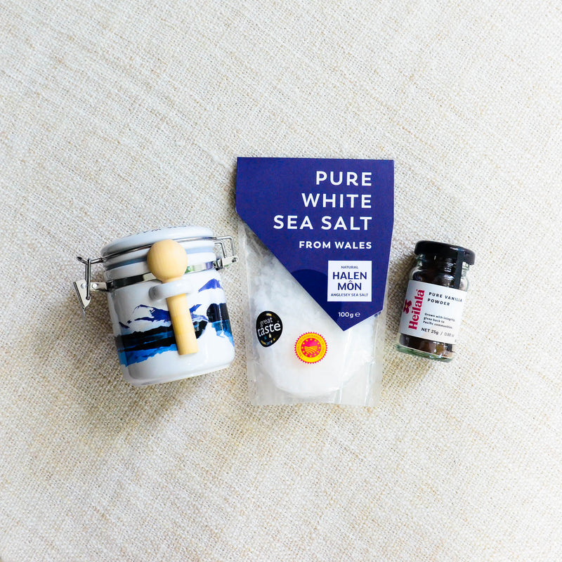 DIY Vanilla Salt Kit w/ Watercolour Ceramic Jar