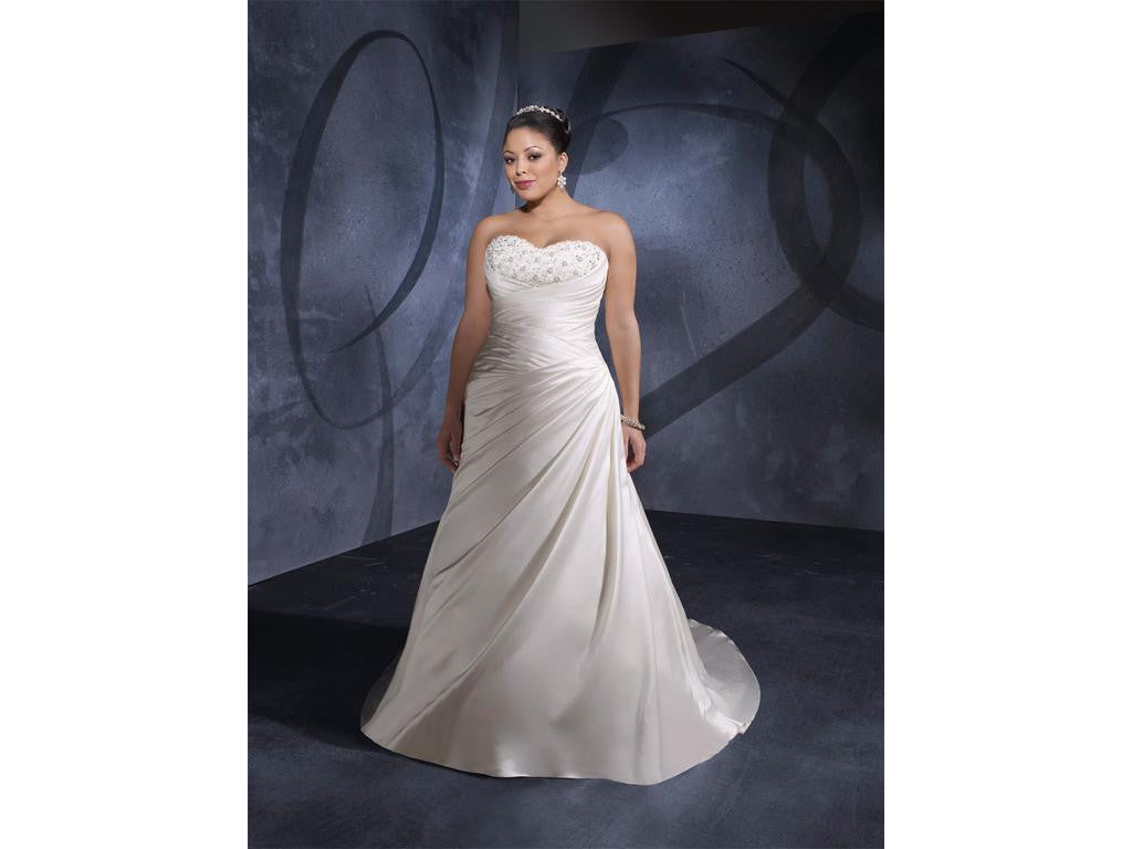 Mori Lee Julietta 3072 Size 22W Strapless Gown
