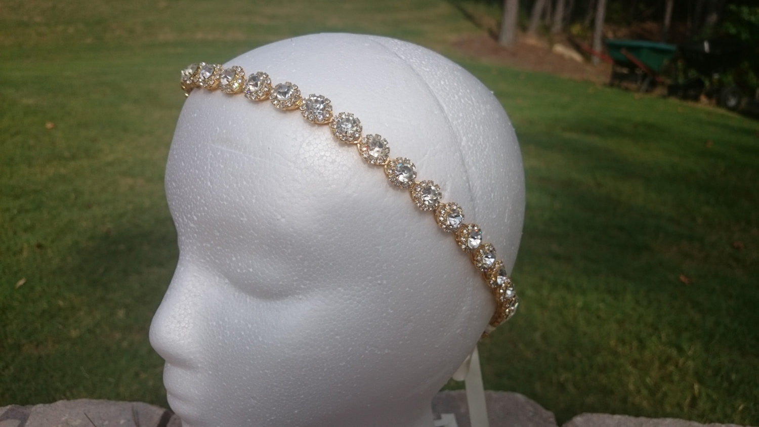 Rose Gold Headband, Rhinestone Headband, Rhinestone Belt, Headband, Bridal Gown, Wedding Dress, Accessory, Rose Gold Halo, Tiara