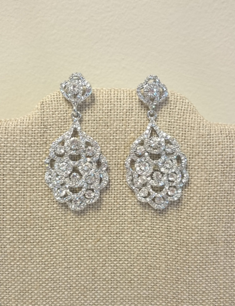Art Deco Bridal Earrings Vintage Inspired for a Bride Bridesmaids Gift Wedding Jewelry
