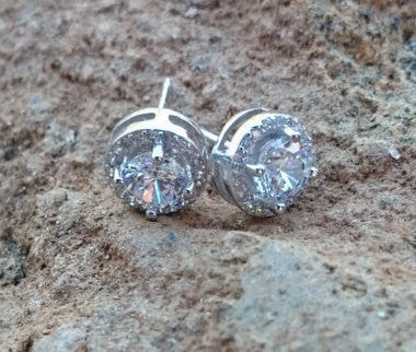 Kate Middleton Inspired CZ earrings, stud pave cubic zirconia earrings, wedding jewelry, bridal jewelry, bridal earrings, bridesmaid jewelry