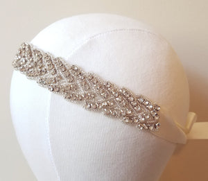 Bridal headband, headband, wedding headband, braided, flower girl