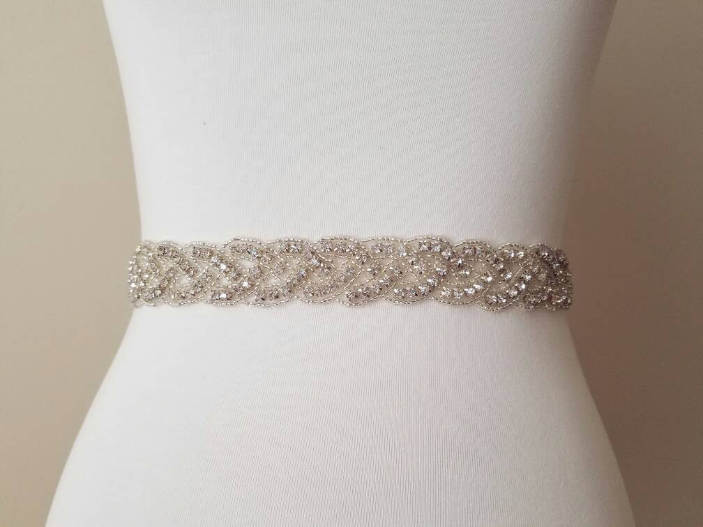 Wedding Sash Rhinestones Wedding Belt Bridal Sash