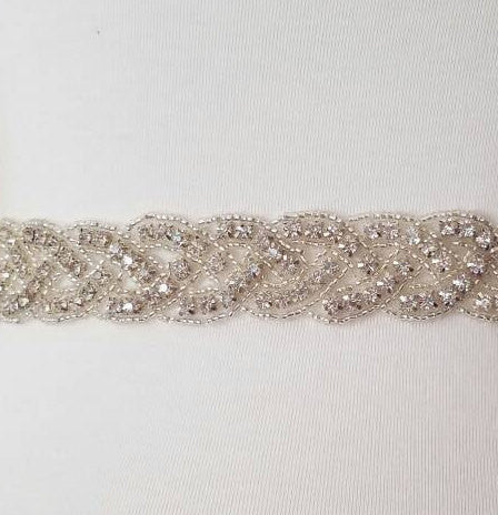 Braided Crystal Bridal Sash Belt Twistwed Wedding Sashes Belts Rhinestone Crystal Wedding Dress Belt Crystal Wedding Belt Beaded Belt