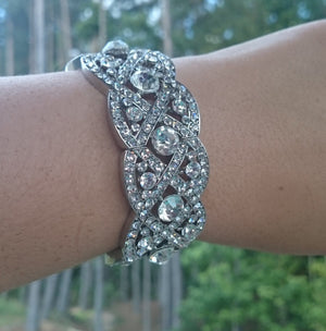 Art Deco Crystal Bridal Bracelet