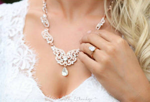 Rose Gold Vintage Style Jewelry Set Bridal Jewelry Set