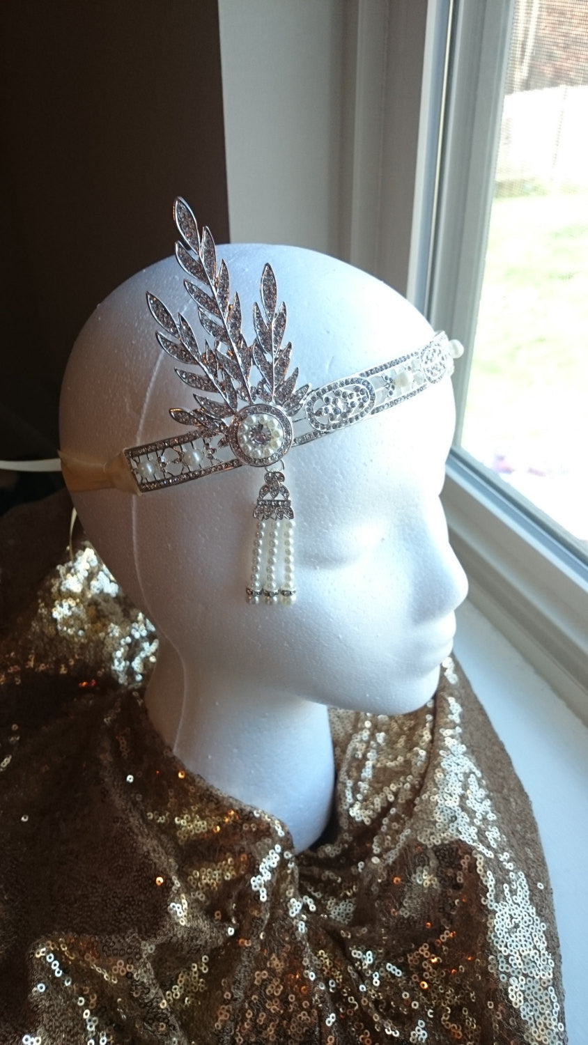 Rose Gold Great Gatsby Flapper Headband