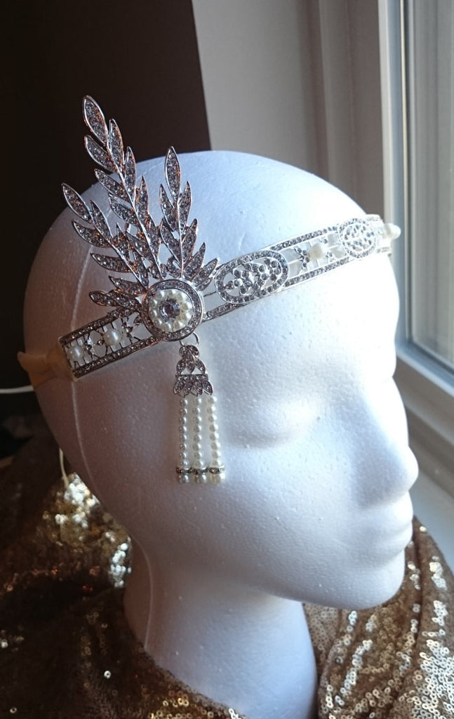 Great Gatsby Headband, Flapper headband, Roaring 20's wedding hairpiece, Great gatsby hair accessories, Gatsby, Daisy, 1920's, Vintage