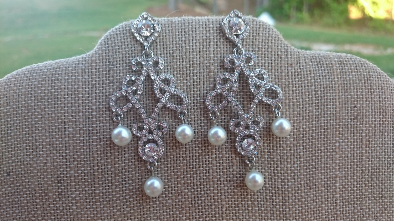 Bridal Earrings Pearl Chandelier Earring Bridesmaid