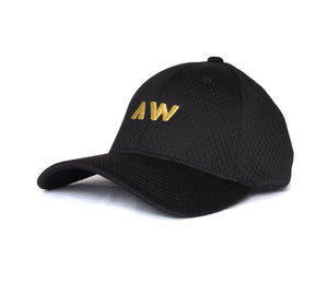 Wassabi AW Mesh Flex Hat - Black/Gold