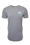 Wassabi Dope Dope Elongated Drop Tail Shirts - Heather Grey