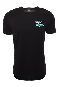 Wassabi Dope Dope Elongated Drop Tail Shirts - Black