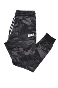 Wassabi Cotton Tech Sweatpants - Camo Black w/ White AW