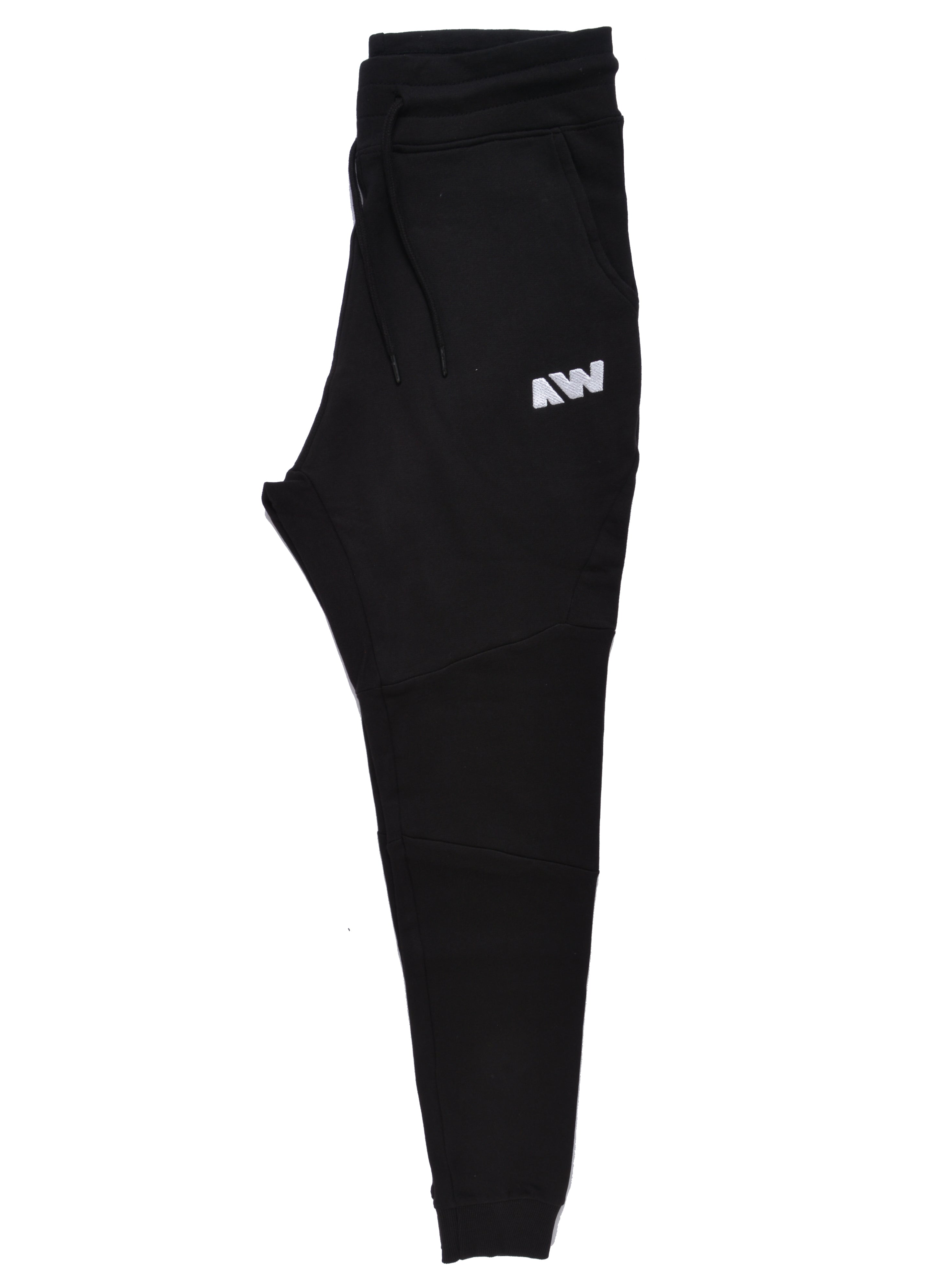 Wassabi Cotton Tech Sweatpants - Black w/ White AW