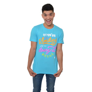 Wassabi If You're Not Smiling T-Shirt - Turquoise