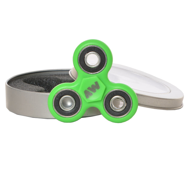 green fidget spinner