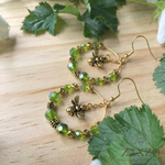 Highland Jewelry with Czech Beads. Dainty Scottish Bee Earrings.