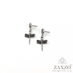 Silver Dragonfly Post Earrings. Free Shipping.
