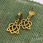 Thistle Wire Earrings with Blue mix Faceted Czech Beads. Free Shipping.