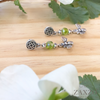 Highland Jewelry Green Czech Beads. Dainty Scottish Bee Earrings. Jewelry  Gift Box Included.