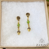 Dainty Acorn Charm Earrings with Faceted Czech Beads. Gift Box Included.