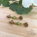 Highland Jewelry Czech Beads. Dainty Scottish Bee Earrings. Jewelry Gift Box Included.